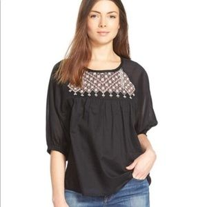 MADEWELL embroidered blouse